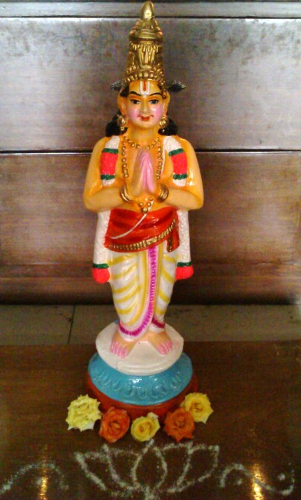 Sri Poigai Azhwar (Golu bommai/doll)